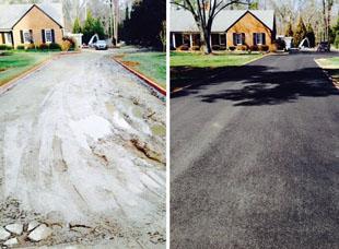 recycled asphalt paving