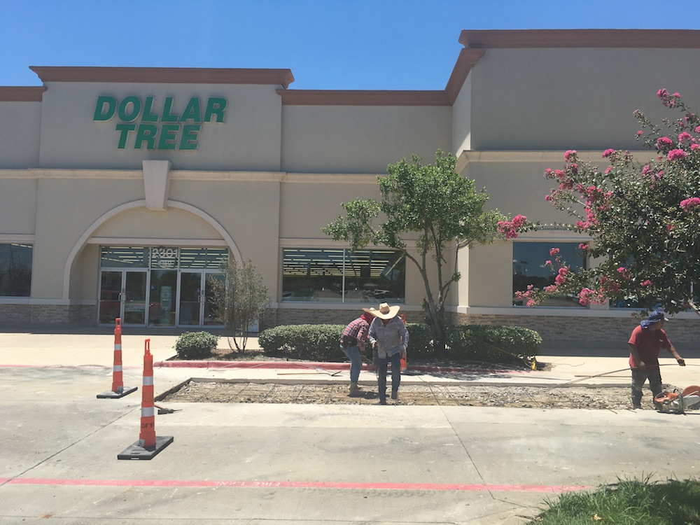 Concrete Repairs at Shopping Center in Flowermound, TX