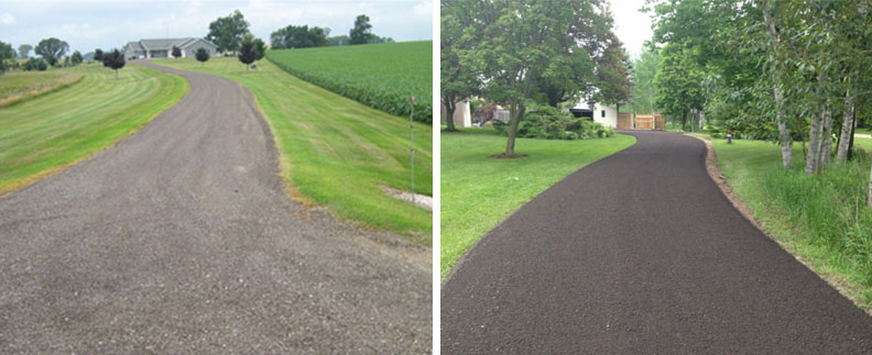 Recycled Asphalt Paving on 2 Residential Driveways