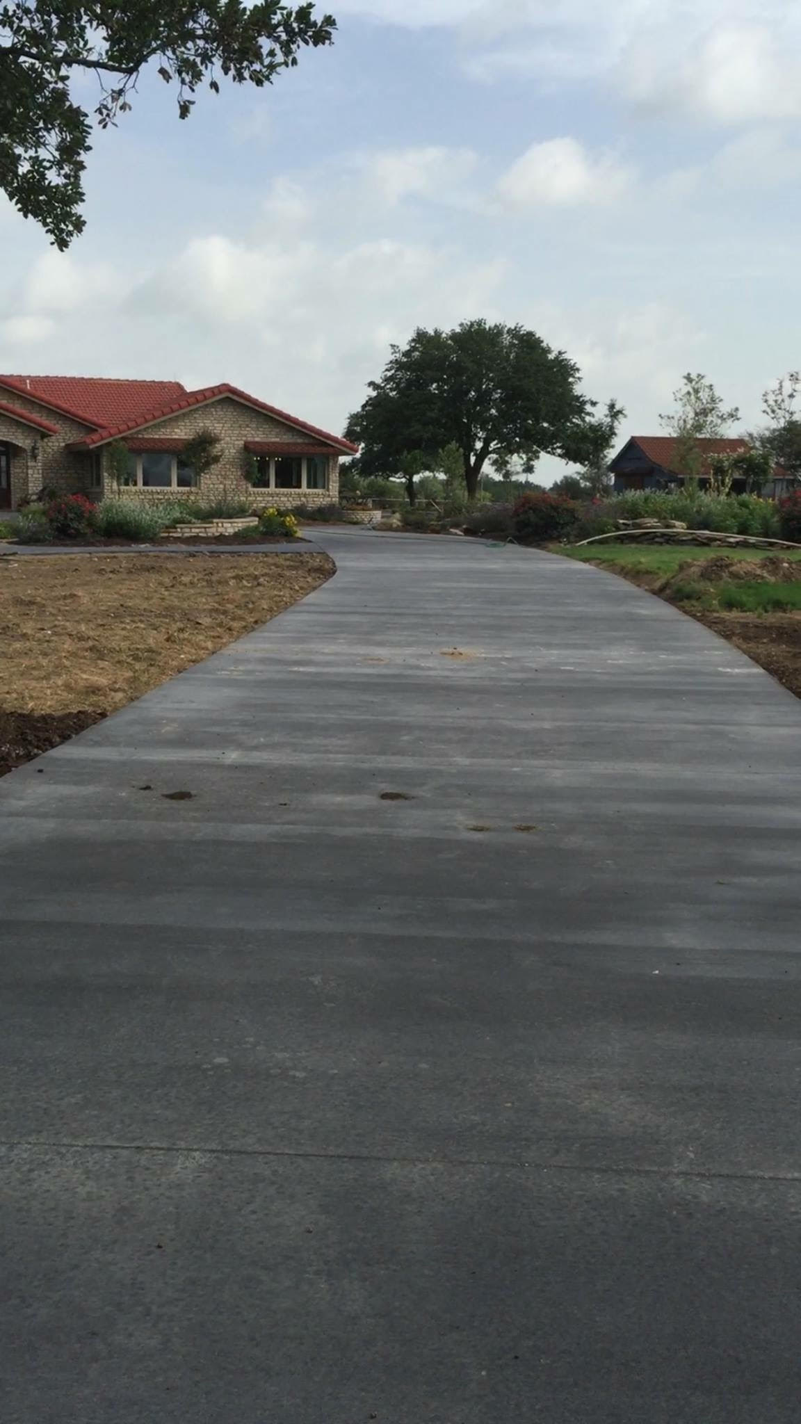 Beautiful Residential Concrete Driveway