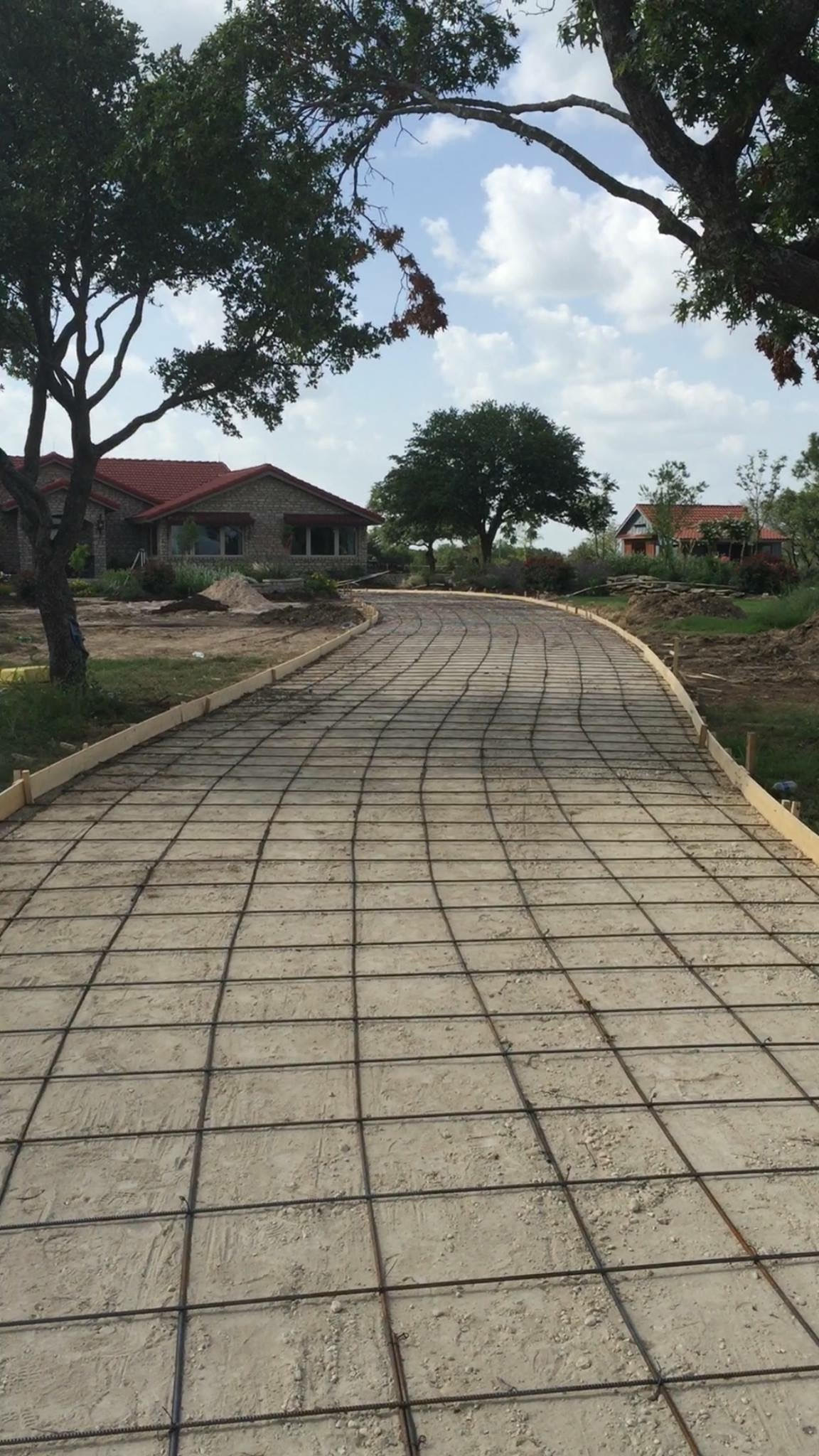 All forms and rebar installed and ready for concrete on this residential driveway