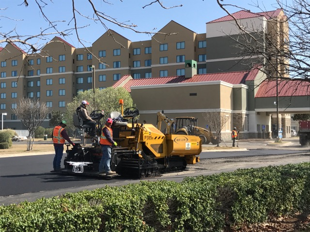 Hotel Parking Lot Paving in progress