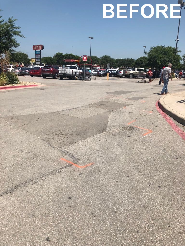 Parking lot repair