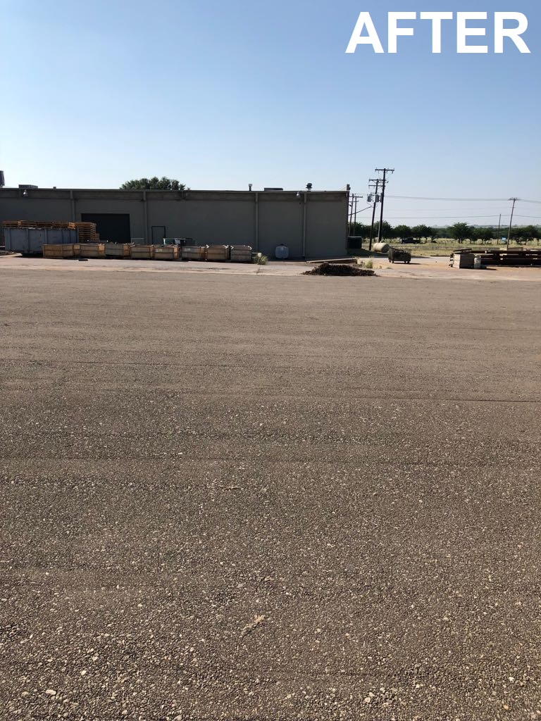 Parking lot asphalt