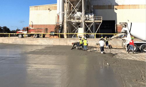 pouring concrete in dallas tx project