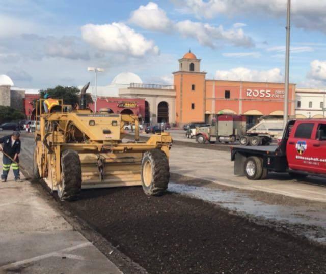 paving a commercial parking lot